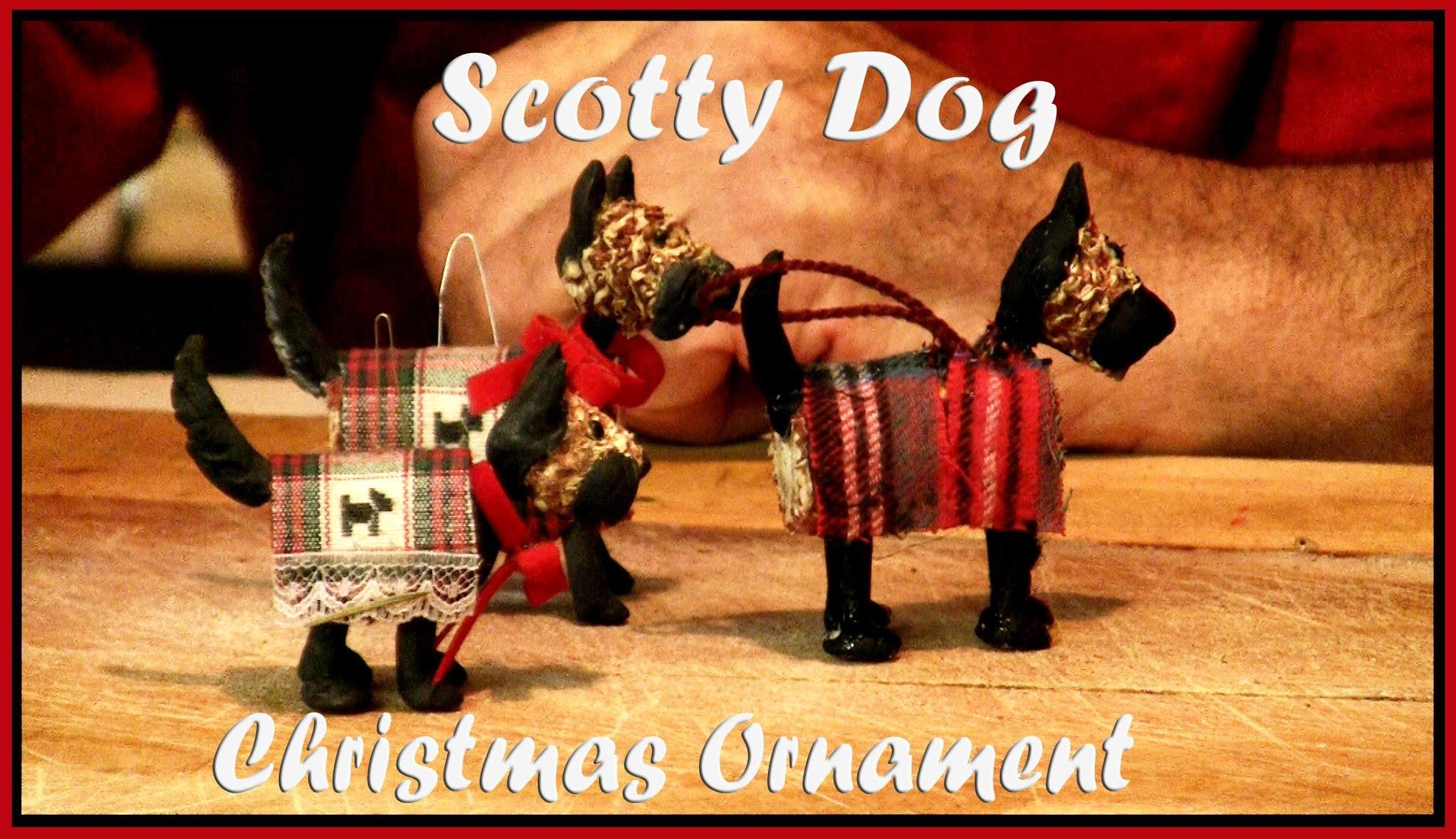 Handmade Christmas Ornament Scotty Dog Scottish Terrier