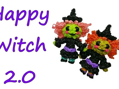 Happy Witch 2.0 Tutorial by feelinspiffy (Rainbow Loom)