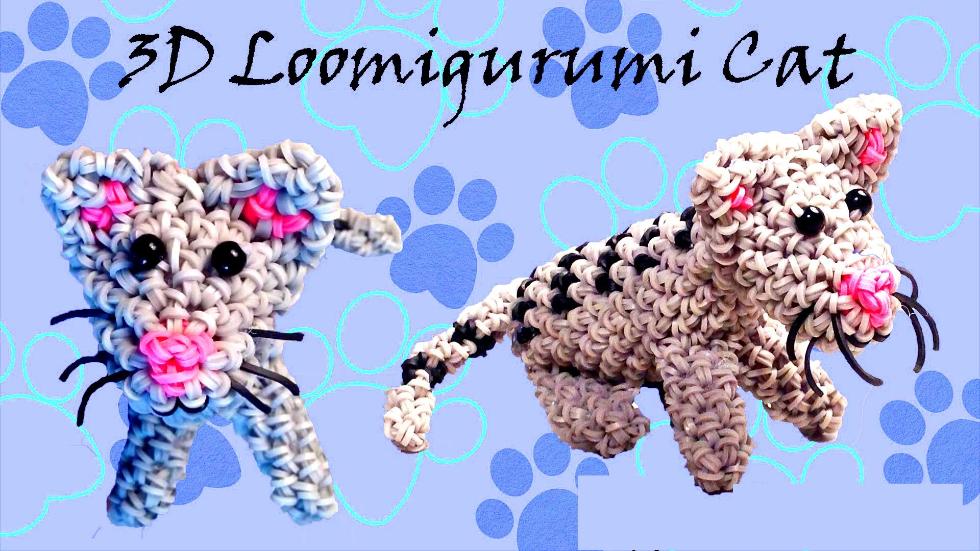 "How to Make DIY (Amigurumi) ""New 3D Kitten (Cat)"" from Rainbow Loom. Hook Only."