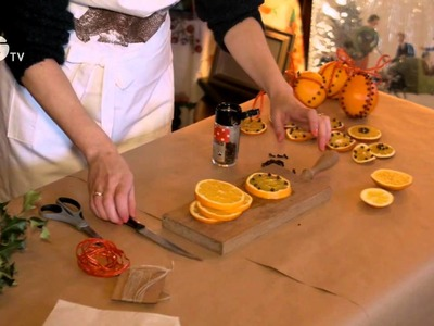 How to make scented orange decorations - Christmas crafts from the National Trust