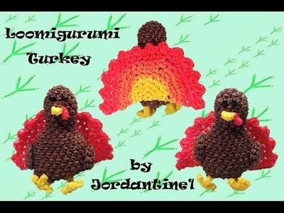 New Loomigurumi. Amigurumi Turkey - Thanksgiving - Rainbow Loom - Hook Only - Rubber Band Crochet