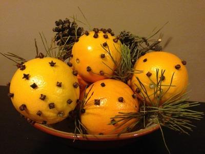 Orange Pomanders Easy Aromatic Christmas Decor