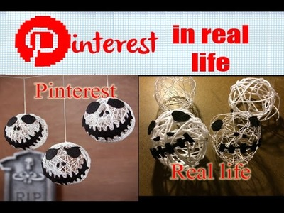 Pinterest in Real Life - Jack Skellington Decoration Balls (Nightmare before Christmas)