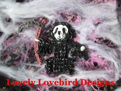 Rainbow Loom Grim Reaper Halloween Charm. Ghost Face. Sensenmann