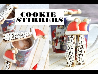 SANTA HAT S'MORES COOKIE STIRRERS FOR CHRISTMAS, HANIELA'S