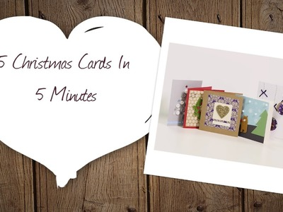 5 Christmas Cards in 5 Minutes | Hobbycraft