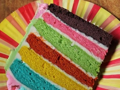 6 Layer Rainbow Cake Recipe