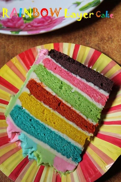 6 Layer Rainbow Cake Recipe