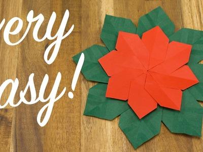 Christmas Flower origami tutorial, easy DIY Holiday Decoration
