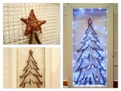 Christmas tree DIY. Albero di natale fai da te