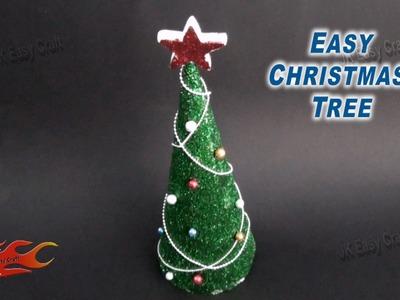 DIY Easy Glitter Christmas Tree | How to make | JK Easy Craft 085
