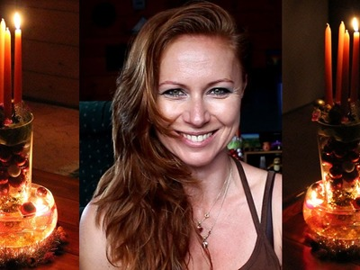 DIY - How to make simply a Christmas decoration with floating candles