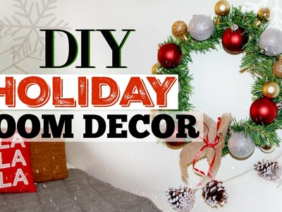 DIY Simple & Affordable Holiday Room Decor Ideas | Countdown to Christmas!