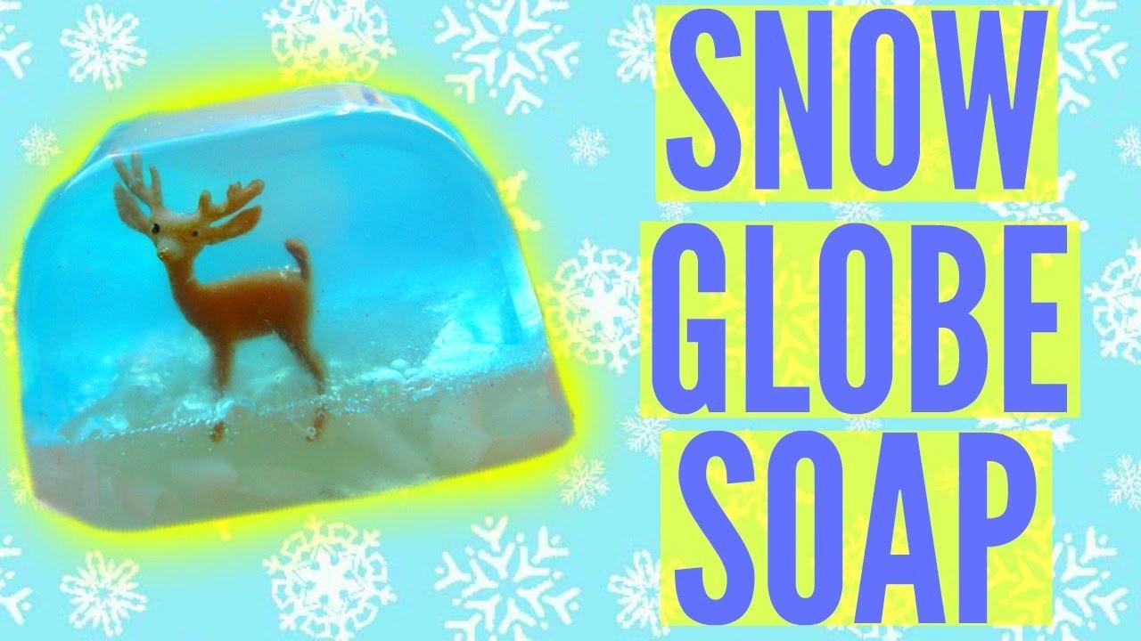 DIY SNOW GLOBE SOAP!   DIY Christmas Gift Idea!