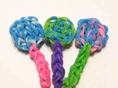 EASY Rainbow loom Lollipop charms | How to make loom bands