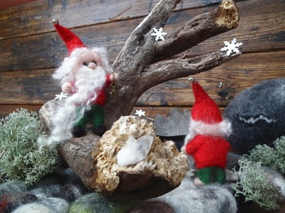 How to make a Christmas Gnome. Needle Felting Tutorial.