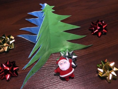 How to make a Christmas tree out of paper (for beginners)