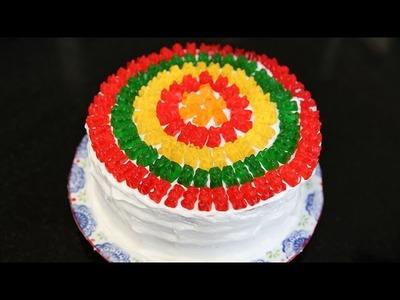 How to Make a Rainbow Gummy Bear Piñata Cake