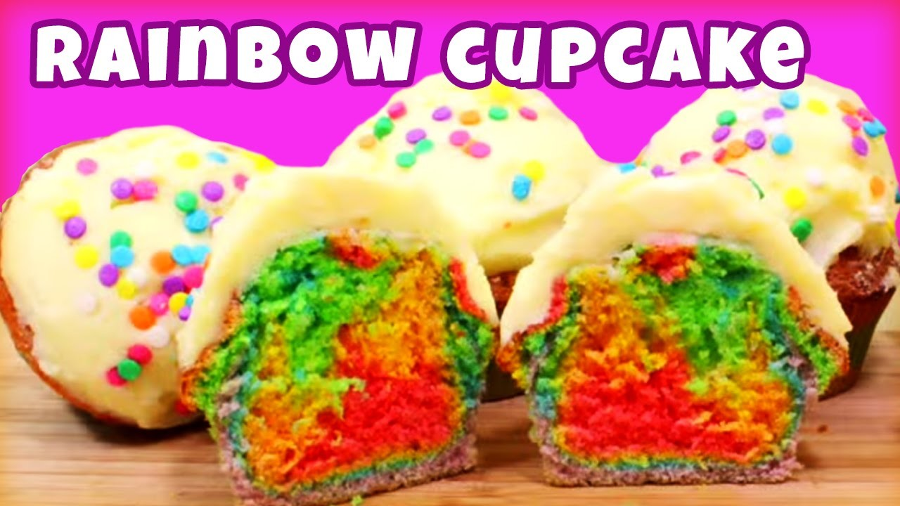 How to make Rainbow Cupcakes | Quick & Easy Recipe | Learn how to Cook & Bake | Hooplakidz Recipes