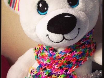 LOOMI Bear's 9 Mystery Charms REVEALED!! & my Giant Rainbow Loom Teddy Scarf WIP
