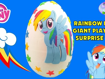 MY LITTLE PONY Giant Play Doh Surprise Egg RAINBOW DASH - Surprise Egg and Toy Collector SETC