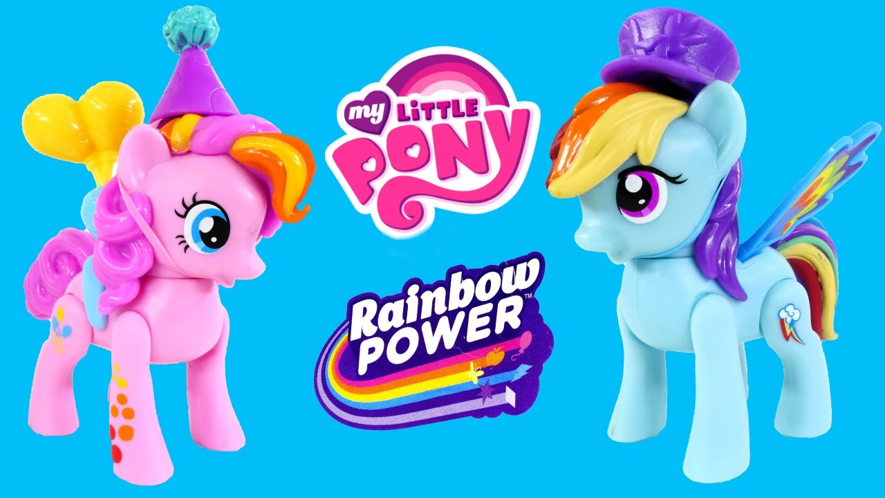 My Little Pony Zoom 'n Go Play Doh Rainbow Power Squishy Pops Pinkie Pie Rainbow Dash MLP Toys DCTC