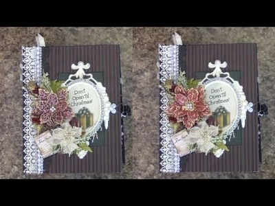 PART 2 TUTORIAL 8.5 x 6.5 CHRISTMAS MINI ALBUM   DESIGNS BY SHELLIE CLASSIC CHRISTMAS TRADITIONS