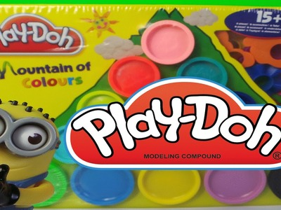 Play-Doh Mountain of Colours Playset By Hasbro Toys My Rainbow Shapes and Molds Unboxing