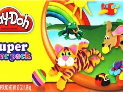 PlayDoh Super color pack  ★ Learn Rainbow Colors including chocolates, White and black