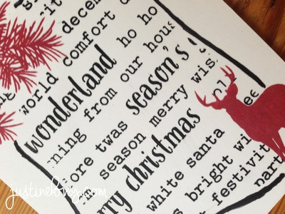 12 Days of Christmas *Day 12*  DIY Background Stamp