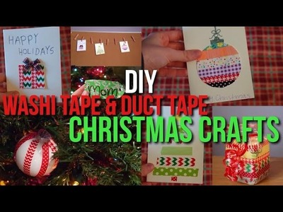 7 DIY Washi Tape & Duct Tape Crafts for Christmas + the Holidays!