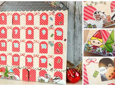 Christmas Advent Calendar DIY | TheCraftBunny