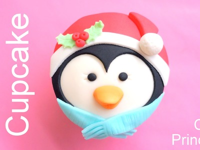 Christmas Cupcakes - How to Make a Penguin Cupcake by Pink Cake Princess