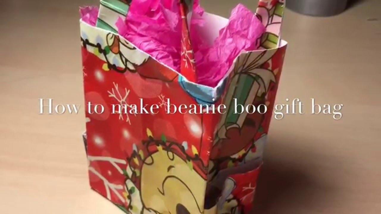 Christmas DIY #2 Beanie Boo Gift Bag