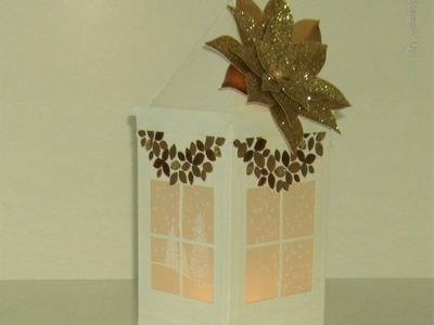 Christmas Lantern in Gold and White Stampin' Up! UK - part 1 of 2