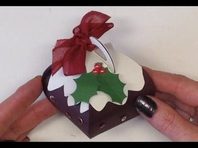 Christmas Pudding made from the Stampin' Up! UK Curvy Keepsake Box Die