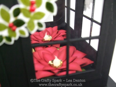 Christmas Table Centrepiece with Poinsettia Stampin' Up! UK Part 2 of 2