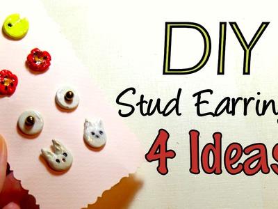 DIY Air Drying Clay Stud Earrings-Cute Christmas Gift Idea 2015   by Fluffy Hedgehog
