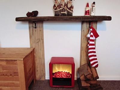 DIY Christmas Fireplace
