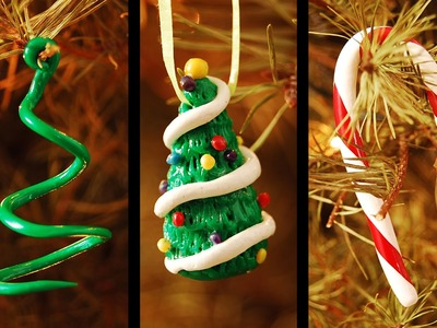 DIY Christmas Ornaments: Christmas Trees and Candy Cane
