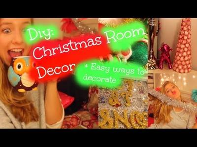 DIY Christmas Room Decor⎜QUICK & EASY