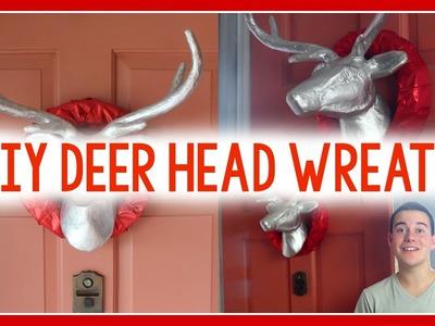 DIY Deer Head Wreath   CHRISTMAS WREATH IDEA!