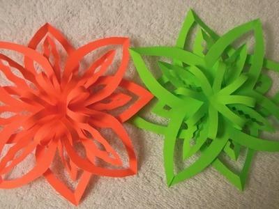 DIY Easy Paper Christmas Ornament . Snowflake  design 2