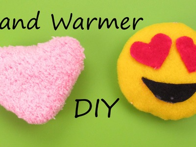 DIY: Hand Warmer Emoji.Heart Plush How to Tutorial Holiday.Christmas Gift Idea