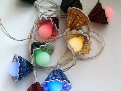 DIY Nespresso:How to make a multi color-garland