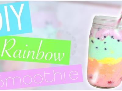 DIY Rainbow Smoothie. Parfait (No blender!) EASY!