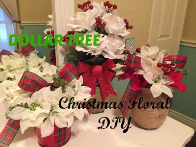 DOLLAR TREE Christmas Floral DIY | PLAID WEEK: Day 5