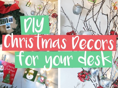 Easy and Affordable DIY Christmas Decors For Your Desk