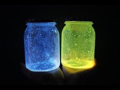 EASY Christmas Room Decor DIY's || Galaxy Glow Jars
