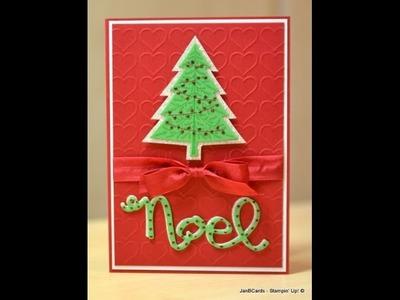 Glimmer Christmas Tree - JanB UK Stampin' Up! Demonstrator Independent